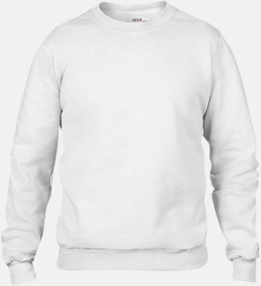 Vit (herr) Fleecetröjor med reklamtryck