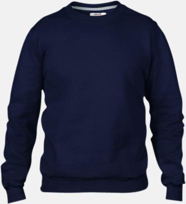 Marinblå (herr) Fleecetröjor med reklamtryck
