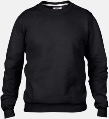 Svart (herr) Fleecetröjor med reklamtryck