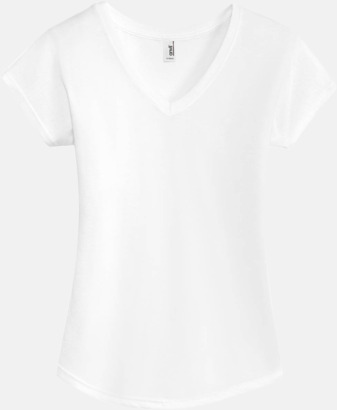 Vit (dam) Spräckliga t-shirts med reklamtryck