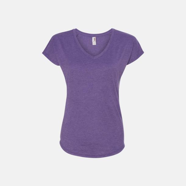 Heather Purple (dam) Spräckliga t-shirts med reklamtryck
