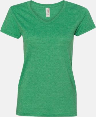 Heather Green (dam) Spräckliga t-shirts med reklamtryck