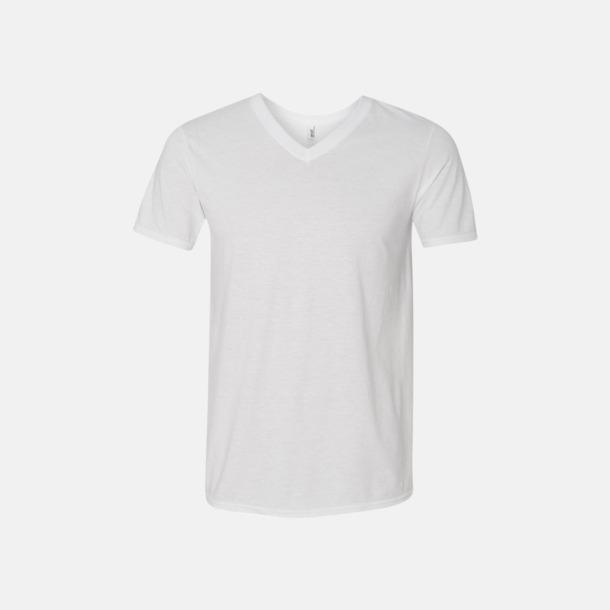 Vit (herr) Spräckliga t-shirts med reklamtryck
