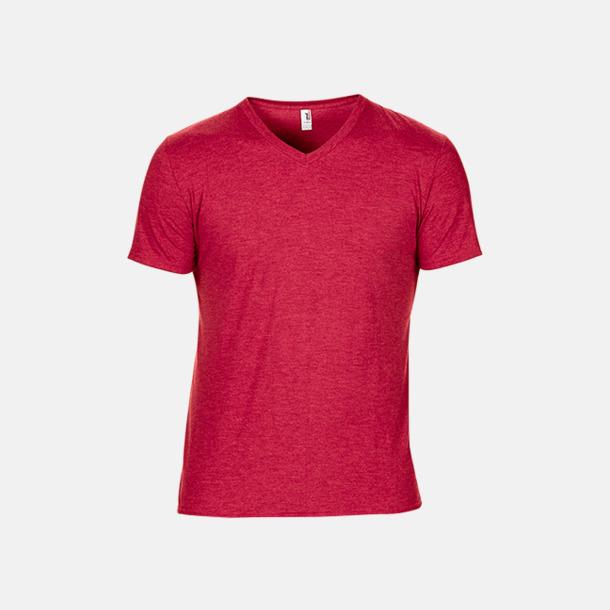 Heather Red (herr) Spräckliga t-shirts med reklamtryck