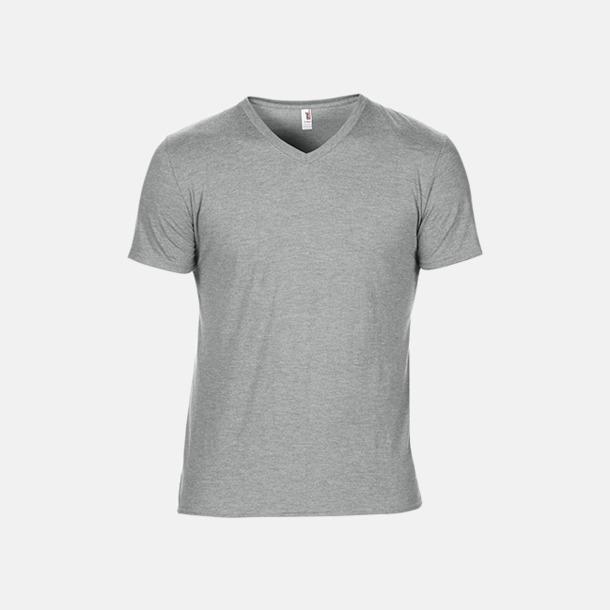 Heather Grey (herr) Spräckliga t-shirts med reklamtryck