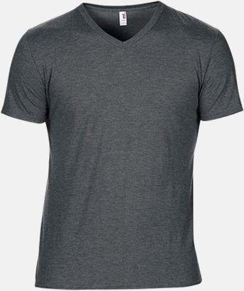 Heather Dark Grey (herr) Spräckliga t-shirts med reklamtryck