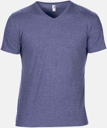 Heather Blue (herr) Spräckliga t-shirts med reklamtryck