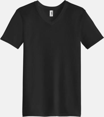 Svart (herr) Spräckliga t-shirts med reklamtryck