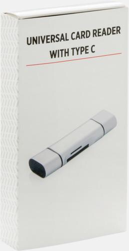 Presentförpackning SD kortläsare med USB 2.0 med reklamtryck