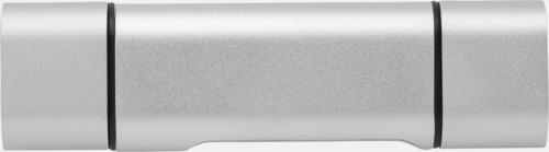 Silver SD kortläsare med USB 2.0 med reklamtryck