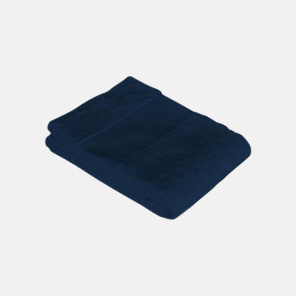 Marinblå Stora badlakan med egen brodyr