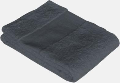 Anthracite Grey Prisvärda handdukar i flera storlekar med brodyr