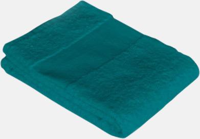Lagoon Green Prisvärda handdukar i flera storlekar med brodyr
