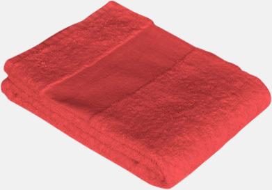 Poppy Red Prisvärda handdukar i flera storlekar med brodyr