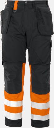Orange/Svart (fram) Varselbyxor Klass 1
