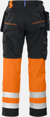 Orange/Svart (bak) Varselbyxor Klass 1