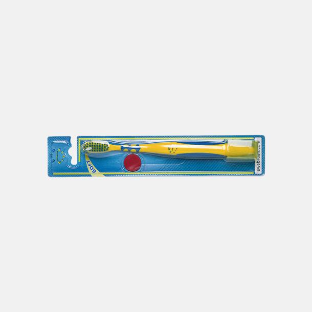Vakumblister (se tillval) Tandborstar med magnet på baksidan med eget reklamtryck