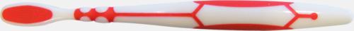 Röd baksida (vuxen) Tandborstar med magnet på baksidan med eget reklamtryck