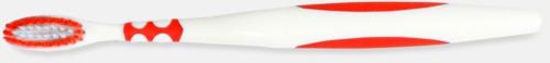 Röd (vuxen) Tandborstar med magnet på baksidan med eget reklamtryck