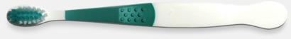 Grön (barn) Tandborstar med magnet på baksidan med eget reklamtryck