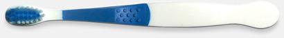 Blå (barn) Tandborstar med magnet på baksidan med eget reklamtryck
