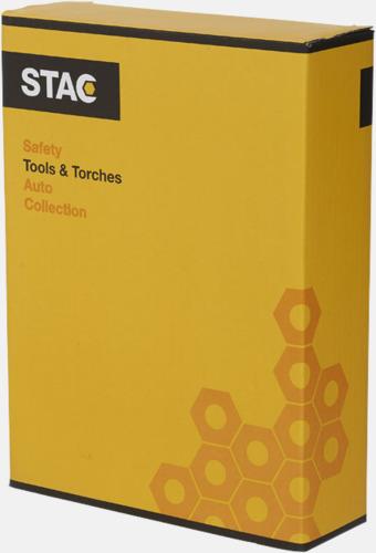 Presentförpackning Låda fylld med verktyg med reklamtryck