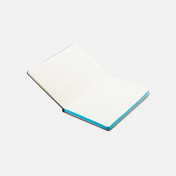 A5-böcker med färgade kantsidor med reklamtryck