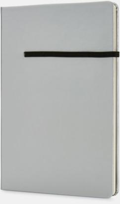 Silver / Svart A5-anteckningsböcker med reklamtryck