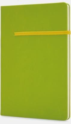 Grön / Gul A5-anteckningsböcker med reklamtryck