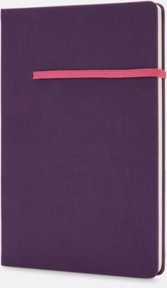 Lila / Rosa A5-anteckningsböcker med reklamtryck