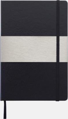 Svart A5-anteckningsböcker med rutade sidor - med reklamtryck