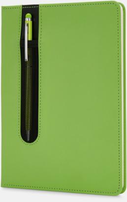 Limegrön Anteckningsbok med matchande penna med reklamtryck