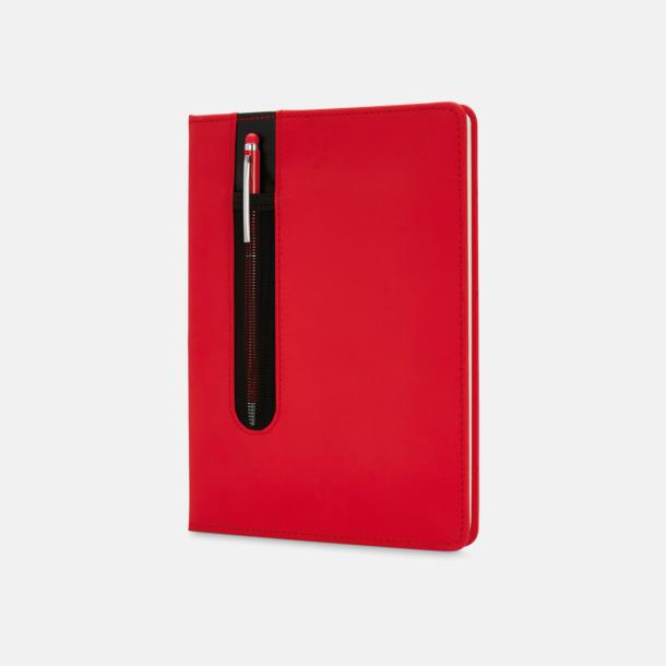 Röd Anteckningsbok med matchande penna med reklamtryck