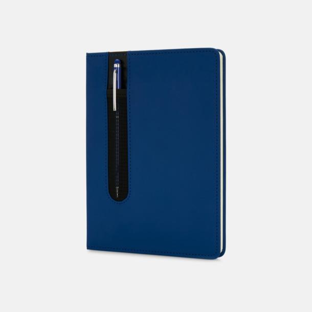 Marinblå Anteckningsbok med matchande penna med reklamtryck