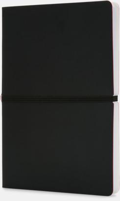 Svart Konstläder anteckningsböcker i A5 med eget reklamtryck