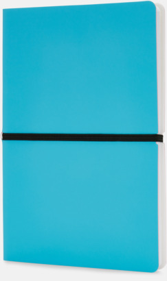 Blå Konstläder anteckningsböcker i A5 med eget reklamtryck
