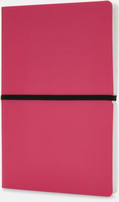 Rosa Konstläder anteckningsböcker i A5 med eget reklamtryck