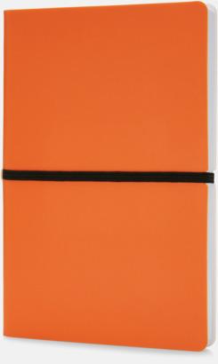 Orange Konstläder anteckningsböcker i A5 med eget reklamtryck