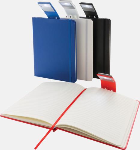 A5-anteckningsböcker med LED-bokmärke - med reklamtryck