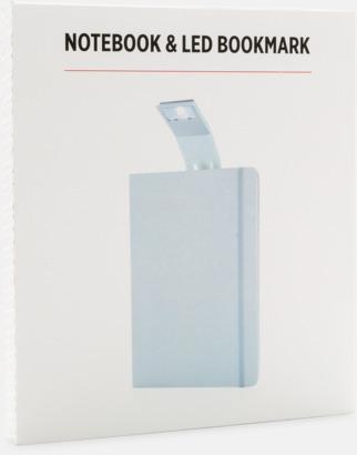 Presentförpackning A5-anteckningsböcker med LED-bokmärke - med reklamtryck