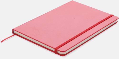 Röd A5-anteckningsböcker med LED-bokmärke - med reklamtryck