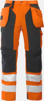 Orange/Svart (fram) Midjebyxa med kraftiga reflexer Klass 2