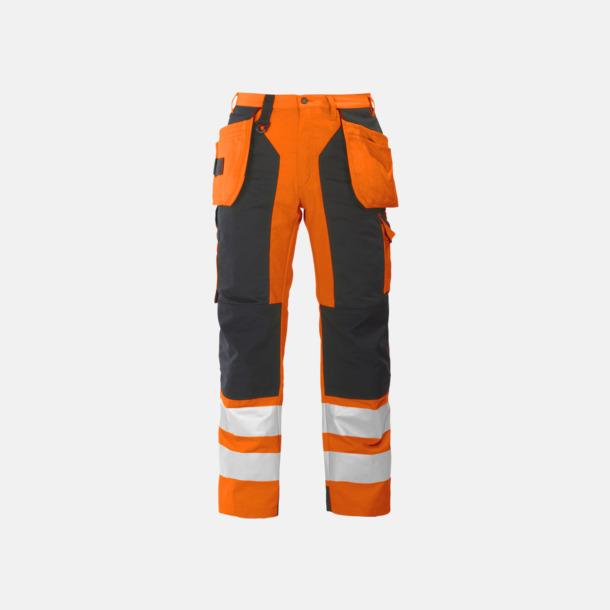 Orange/Svart Midjebyxa med kraftiga reflexer Klass 2