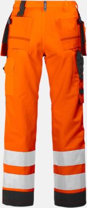 Orange/Svart (bak) Midjebyxa med kraftiga reflexer Klass 2