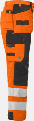 Orange/Svart (sida) Midjebyxa med kraftiga reflexer Klass 2