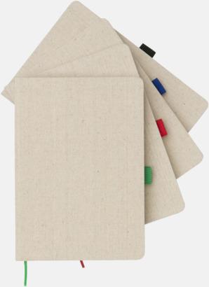 A5-böcker med omslag i bomull med reklamtryck