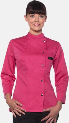 Pink Lång- och kortärmade kockjackor i dammodell med reklamtryck