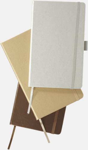Gyllene anteckningsböcker med reklamtryck