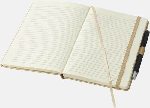 Penna ingår ej Gyllene anteckningsböcker med reklamtryck