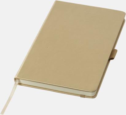 Guld Gyllene anteckningsböcker med reklamtryck
